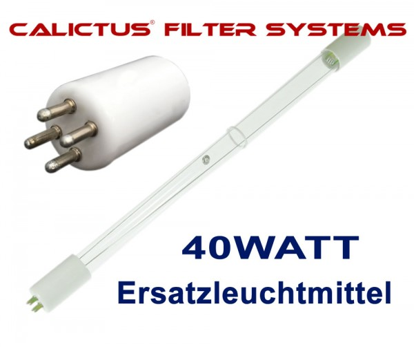 Amalgam Leuchtmittel 40W, Ersatzleuchtmittel für die Calictus 40W Amalgam Tauchlampe