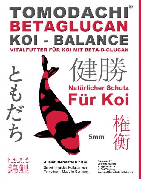 Koifutter, Schwimmfutter Betaglucan Immunschutz, Vitalfutter für Koi im Frühjahr + Herbst, 5mm 2kg