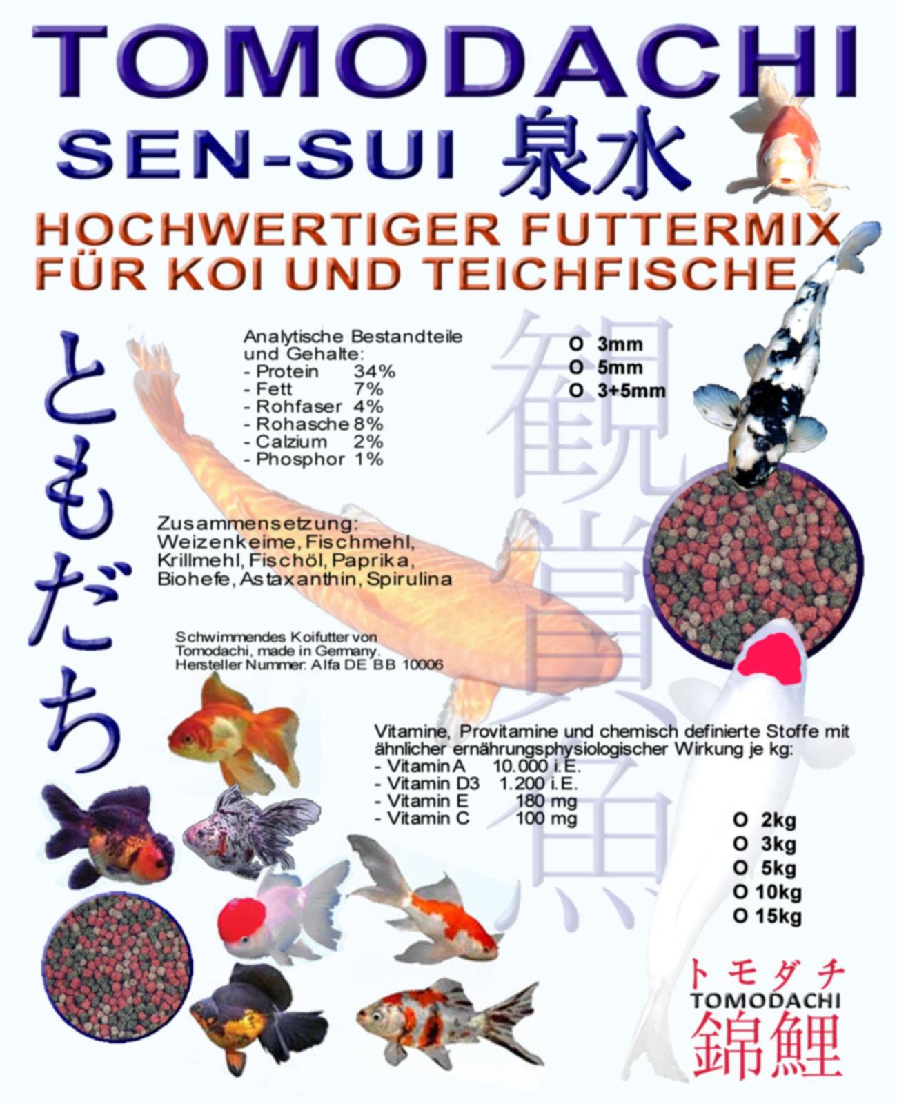 Koifuttermischung koimix premium teichfuttermix Teichfische deutschland
