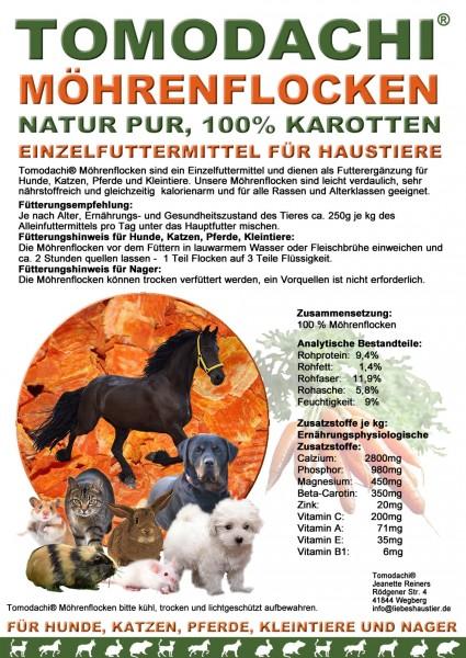 Möhrenflocken, Karotten Hund, BARF Gemüse Verdauung, Stoffwechsel, Immunsystem 5kg