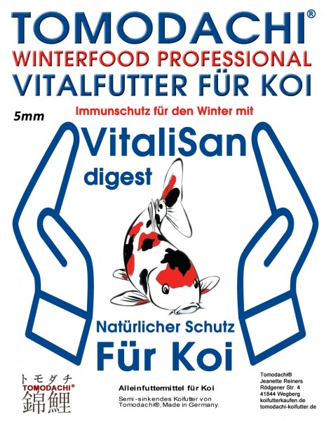 Winterfutter, Vitalfutter, Immunschutz mit Monoglyceriden + Astax, Winterfood Professional 5mm 2kg