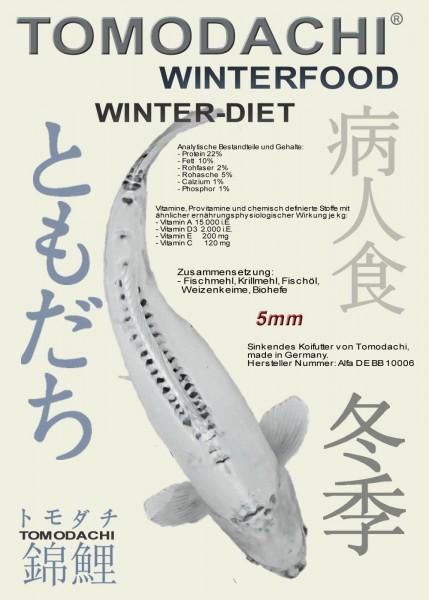 Sinkendes Winterfutter, Tomodachi Winter-Diet, liefert Koi schonend Energie 5mm 15kg