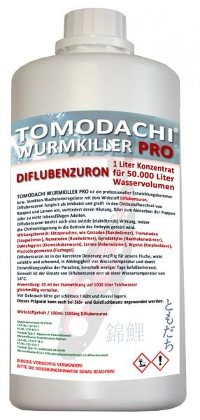 Tomodachi Wurmkiller Pro, Diflubenzuron, 1Liter Konzentrat für 50.000L Teichwasser.
