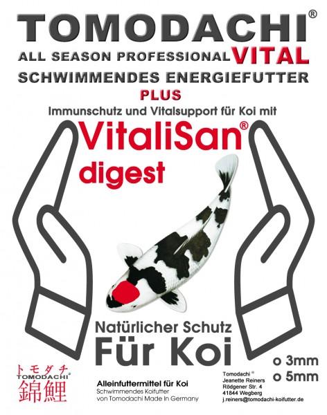 Koischwimmfutter, Vital Koifutter mit Monoglyceriden, All Season Pro VITAL Immunschutzfutter 3mm 2kg
